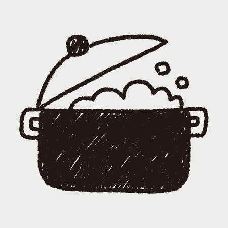 kitchenware pot doodle drawing