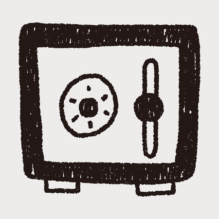 money box: safety money box doodle drawing