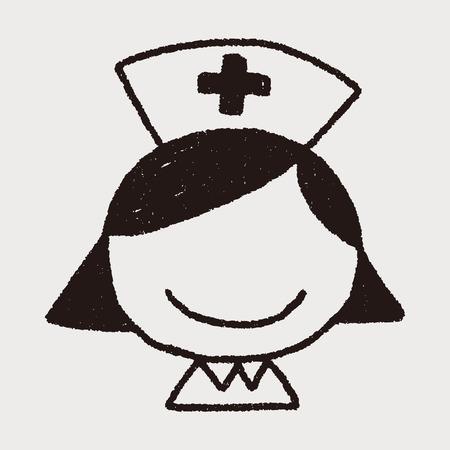 nursing uniforms: Enfermera Doodle
