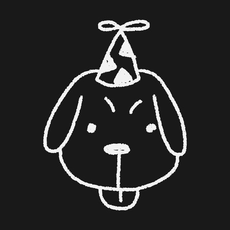 intrigued: doodle birthday dog