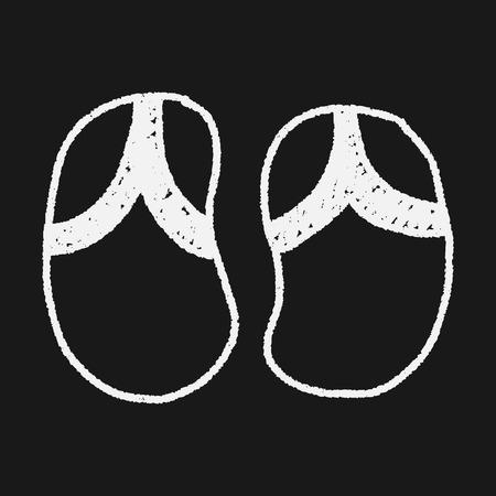 flop: Flip flop doodle drawing