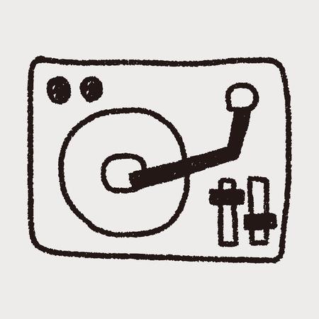 disk: DJ disk doodle drawing