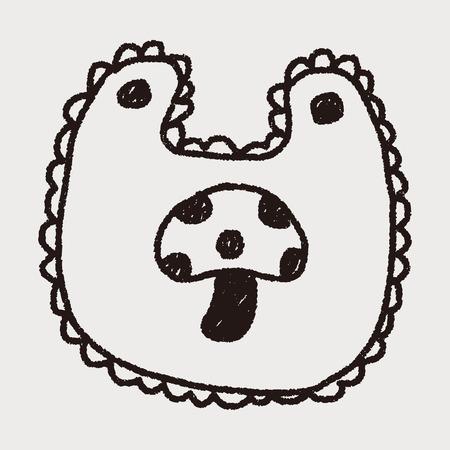 bib: baby bib doodle drawing