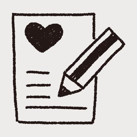 手紙落書き図面が大好き