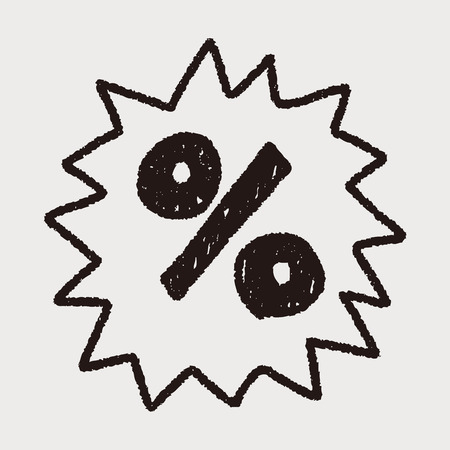 percentage: Percentage symbol doodle drawing