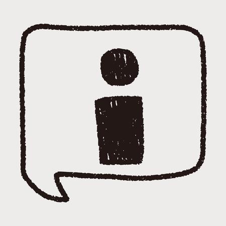 informatie doodle tekening Stock Illustratie