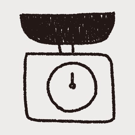 scale weight: scale weight doodle drawing Illustration