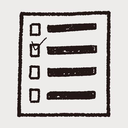 doodle Product List Иллюстрация