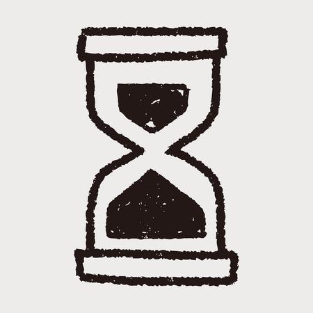 Doodle Hourglass Ilustrace