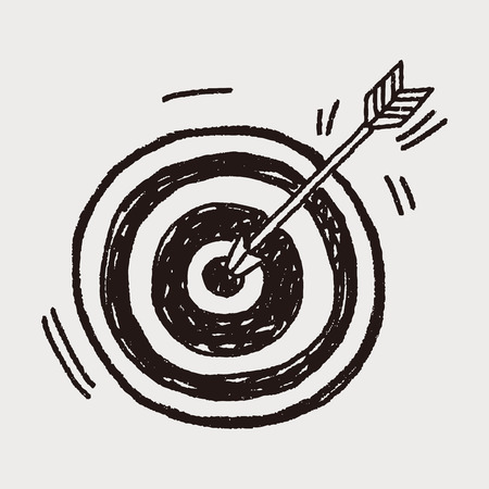 Doodle Archery Reklamní fotografie - 37605078