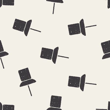 thumbtack: Doodle thumbtack seamless pattern background