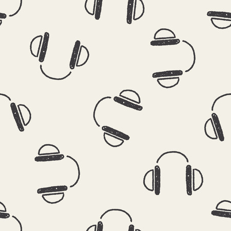 Doodle seamless pattern background Vector