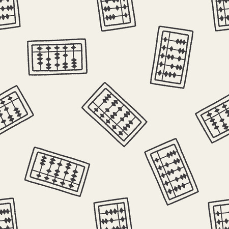 doodle abacus seamless pattern background Vector