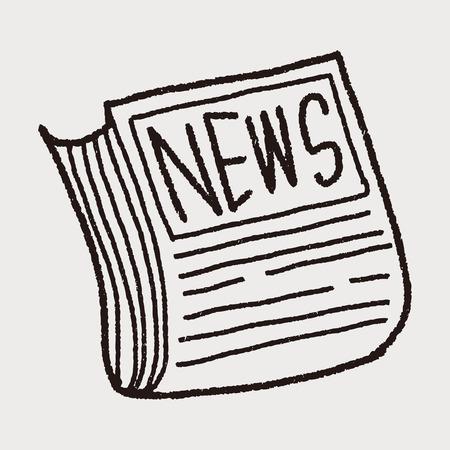news paper: Doodle News paper Illustration