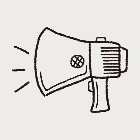 megaphone icon: Doodle Megaphone Illustration