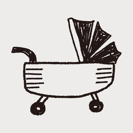 stroller: Doodle stroller Illustration