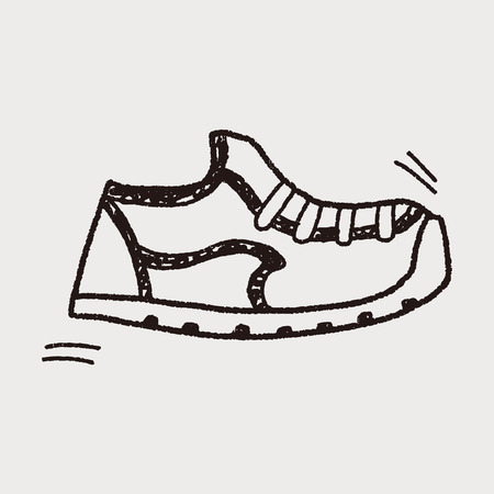 Doodle Sneakers Illustration