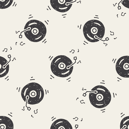 Doodle music seamless pattern