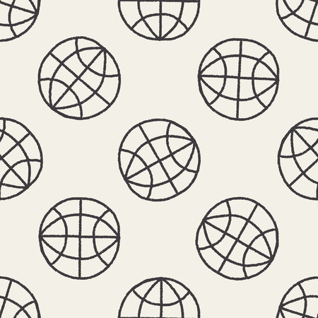 Doodle Globe seamless pattern background Vector