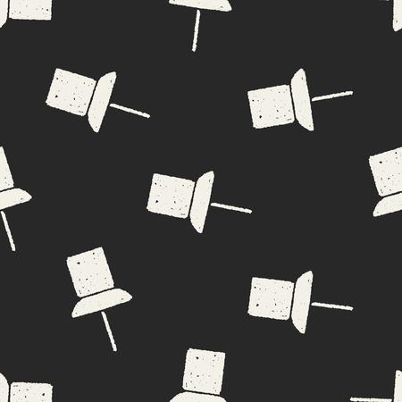 thumbtack: Doodle thumbtack seamless pattern background