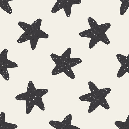 Doodle Favourites seamless pattern background Vector