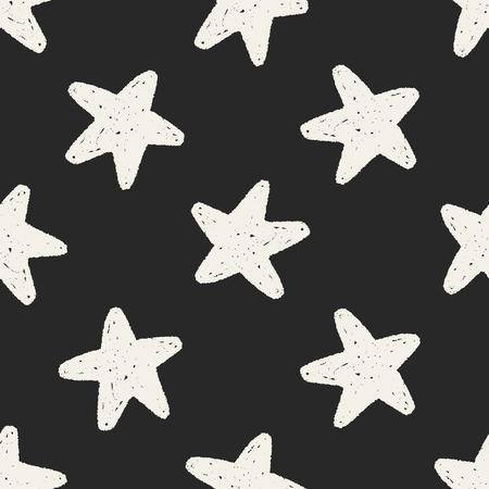 favourites: Doodle Favourites seamless pattern background Illustration