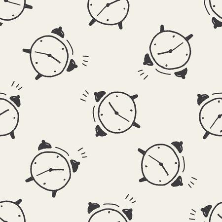 reloj: despertador del doodle de fondo de fisuras