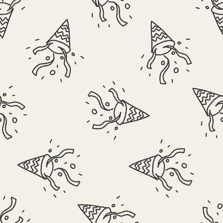 merriment: doodle Firecrackers seamless pattern background Illustration