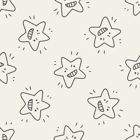 jewell: doodle star seamless pattern background Illustration