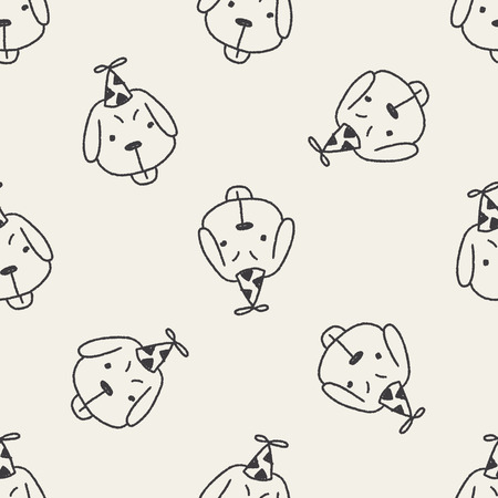 astrologist: doodle birthday dog seamless pattern background