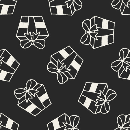giftware: doodle gift seamless pattern background