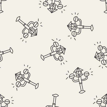 streetlights: Doodle Streetlights seamless pattern background