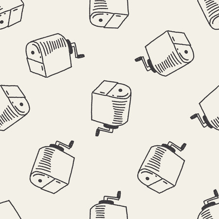 sharpeners: Doodle Pencil sharpeners seamless pattern background