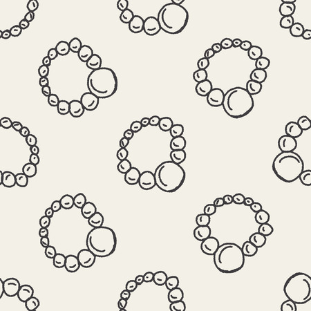 Dooole Jewelry seamless pattern background Vector