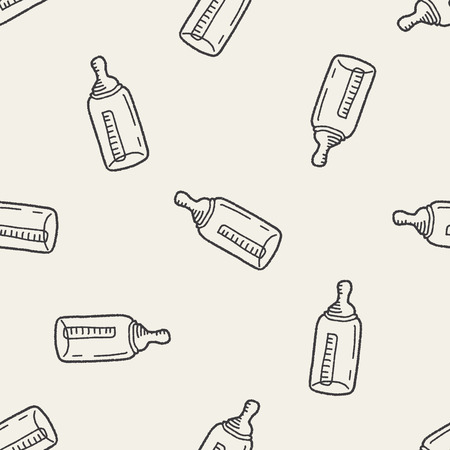 bottle feeding: Biber�n Doodle de fondo de fisuras