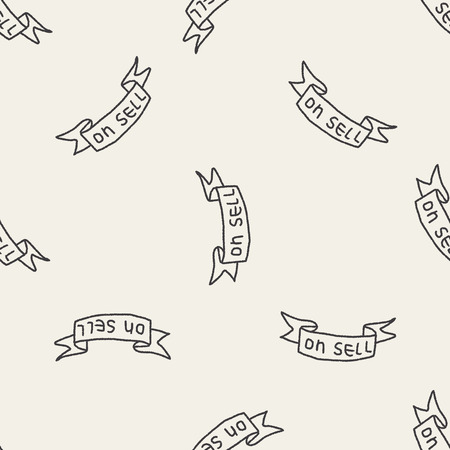 sell: Doodle Sell seamless pattern background