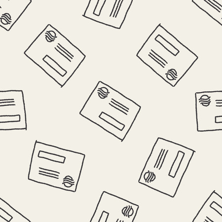 postcard background: doodle postcard seamless pattern background