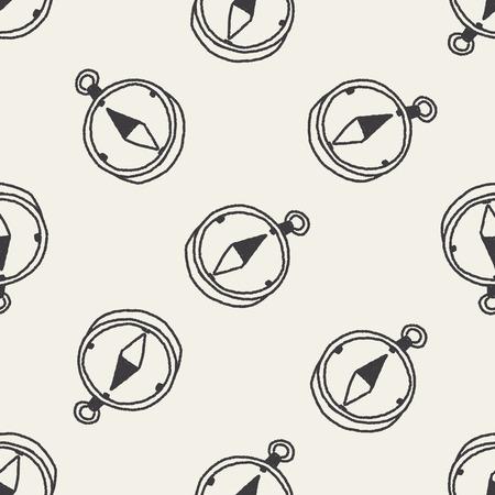 longitude: doodle Compass seamless pattern background