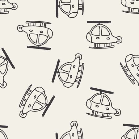 helicopters: Doodle Helicopters seamless pattern background