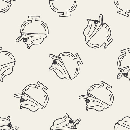 frozen meat: Doodle Icecream seamless pattern background