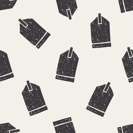 keywords backdrop: Doodle Tag seamless pattern background