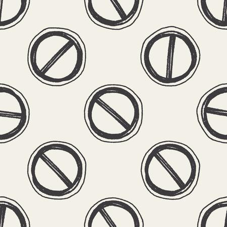 keywords backdrop: Doodle Stop seamless pattern background