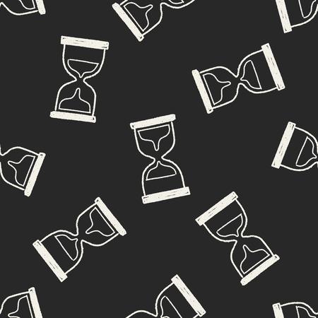 keywords  backdrop: Doodle Hourglass seamless pattern background