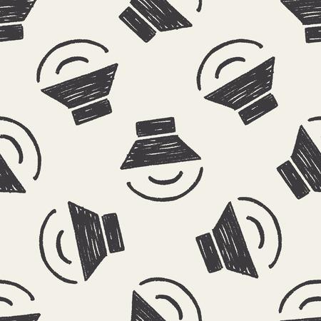 keywords  backdrop: Doodle sound seamless pattern background