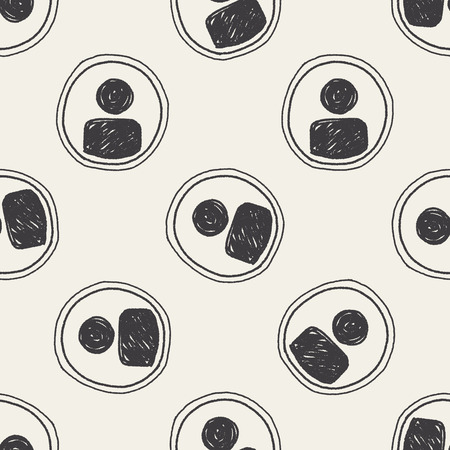 keywords  backdrop: Doodle Character sign seamless pattern background
