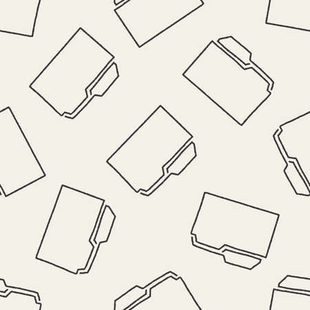 Doodle File seamless pattern background Vector