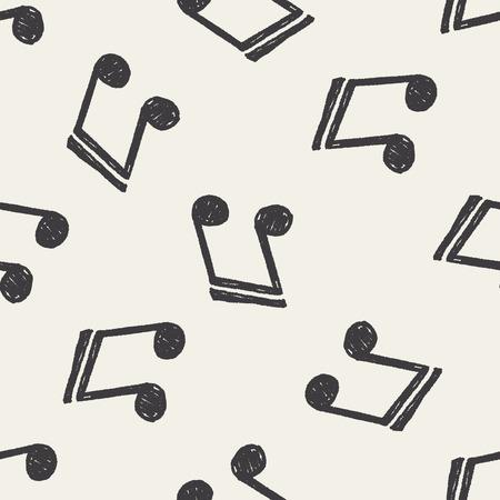 keywords backdrop: Doodle Note seamless pattern background
