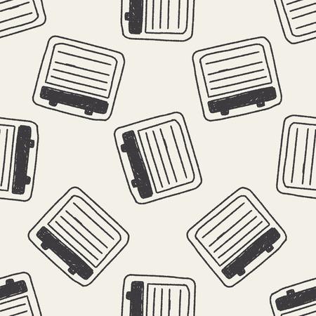 keywords backdrop: Doodle Notes seamless pattern background