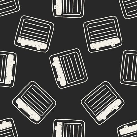 Doodle Notes seamless pattern background Vector