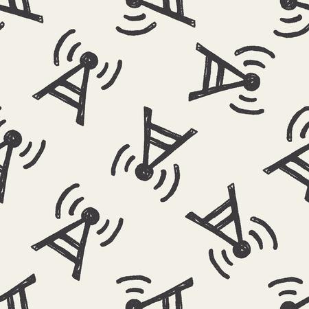 keywords backdrop: Doodle Base station seamless pattern background